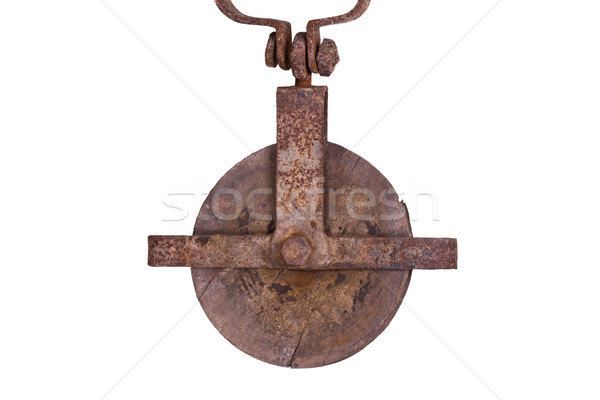 old wooden hoist Stock photo © pterwort