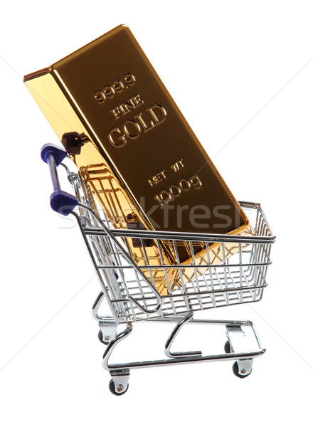 gold bullion in shopping cart Stock photo © pterwort