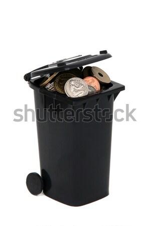 мусора старые европейский монетами белый Сток-фото © pterwort