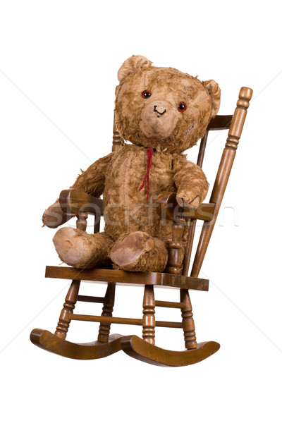 öreg faszék háttér szék bútor játék Stock fotó © pterwort