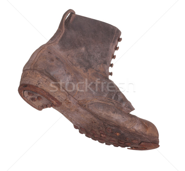 Stock photo: old boot with steel shoe sole