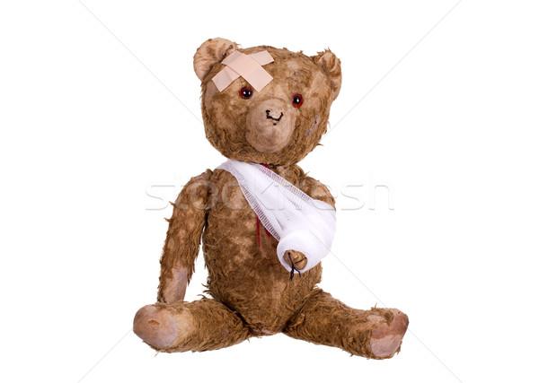 Stock photo: diseased teddybear