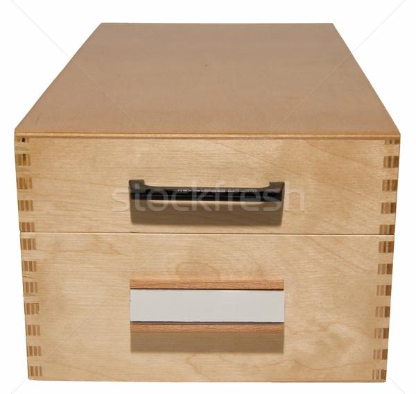 wooden card index box  Stock photo © pterwort