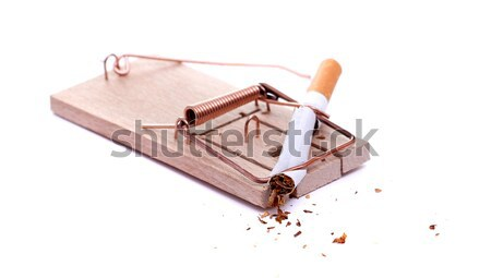 detail of cigarette on mousetrap Stock photo © pterwort