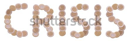 shop - written with coins on white background Stock photo © pterwort