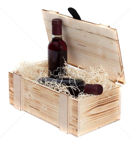 случае два вино бутылок белый Сток-фото © pterwort