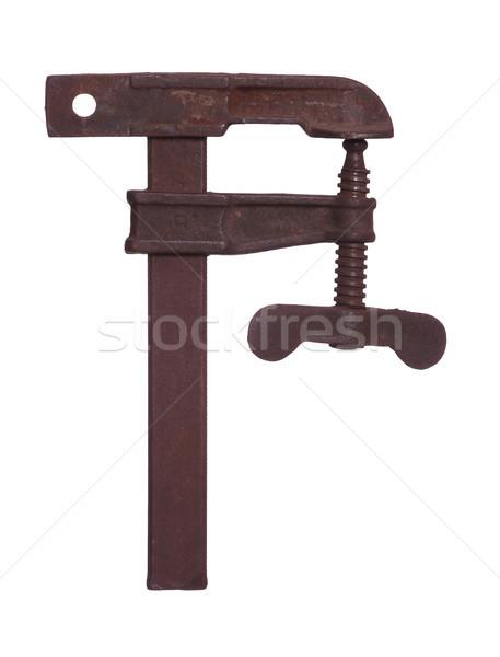 öreg rozsdás kéz munka otthon technológia Stock fotó © pterwort