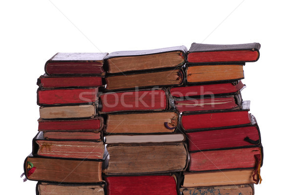 wall of old books Stock photo © pterwort