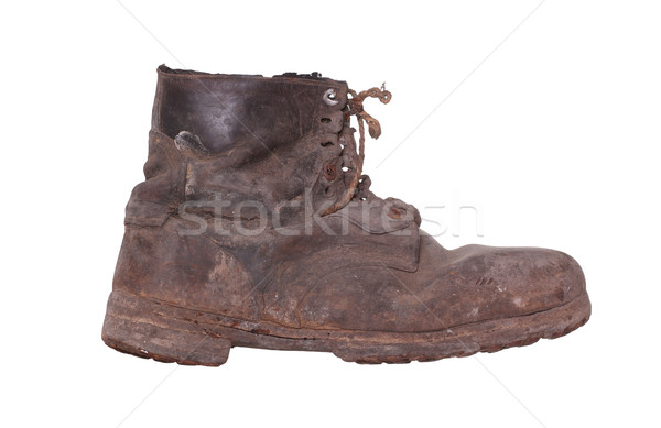 Stock photo: shabby boot with steel sole