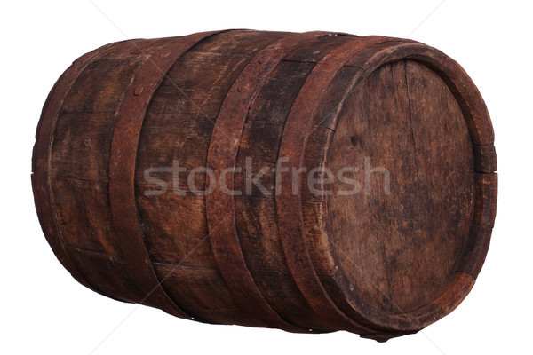 sideview of wooden barrel Stock photo © pterwort