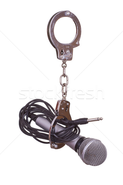 microphone captured with handcuffs Stock photo © pterwort