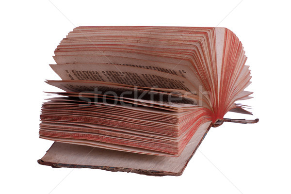 very old book with fanned pages on white Stock photo © pterwort