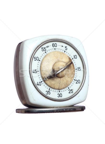 öreg időzítő óra fehér méret stop Stock fotó © pterwort