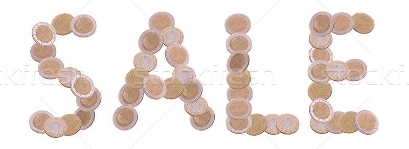 продажи написанный монетами белый бизнеса металл Сток-фото © pterwort