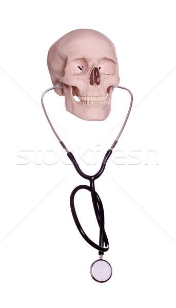 skull with stethoscope Stock photo © pterwort