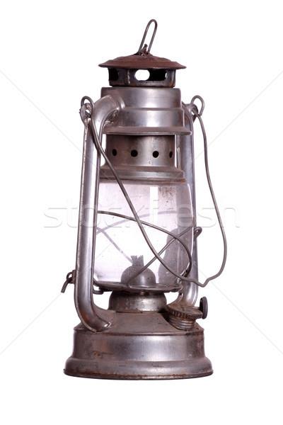 ржавые лампы огня свет стекла металл Сток-фото © pterwort