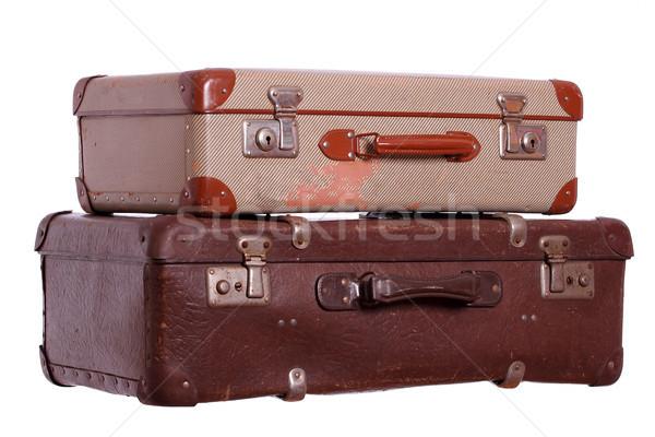 Velho malas negócio caixa viajar terno Foto stock © pterwort