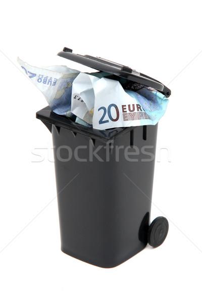 Europese bank merkt zwarte onzin Stockfoto © pterwort