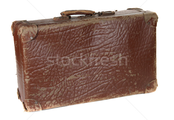 antiquarian brown suitcase Stock photo © pterwort