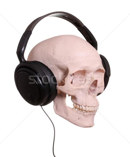頭蓋 ヘッドホン 音楽 パーティ ディスコ 薬 ストックフォト © pterwort