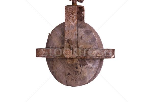 old wooden hoist Stock photo © pterwort