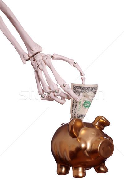 скелет стороны доллара тело здоровья Сток-фото © pterwort