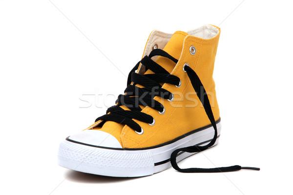 Sneaker with black latchet Stock photo © pterwort