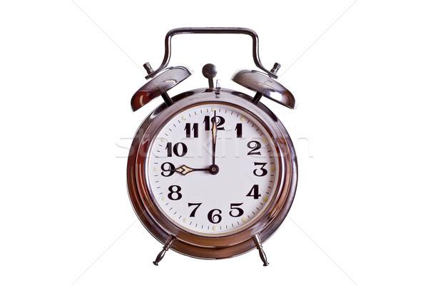 Reloj metal tiempo acero blanco números Foto stock © pterwort