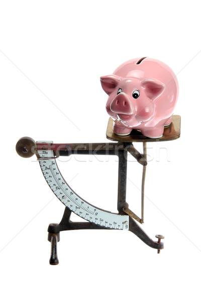piggybank on old letter scales  Stock photo © pterwort