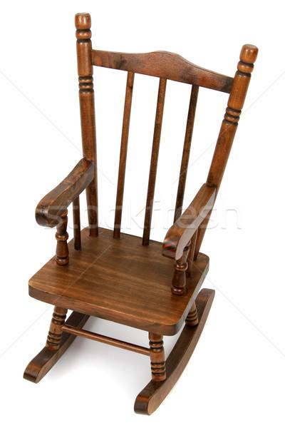 Velho cadeira de balanço branco Foto stock © pterwort