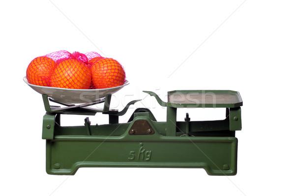 апельсинов старые масштаба фитнес фрукты зеленый Сток-фото © pterwort