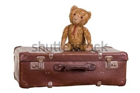 старые сидят чемодан игрушками игрушку сумку Сток-фото © pterwort