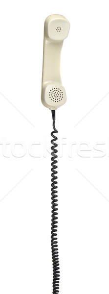 old telephone headset with spiral cable Stock photo © pterwort