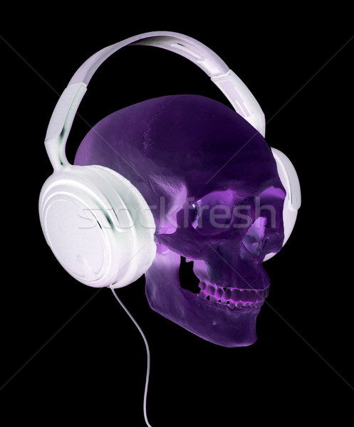 頭蓋 ヘッドホン 音楽 パーティ 薬 ストックフォト © pterwort