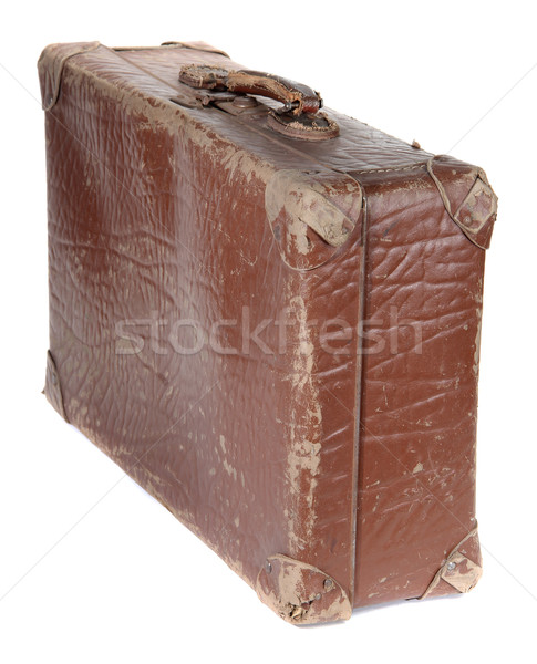 old brown suitcase Stock photo © pterwort
