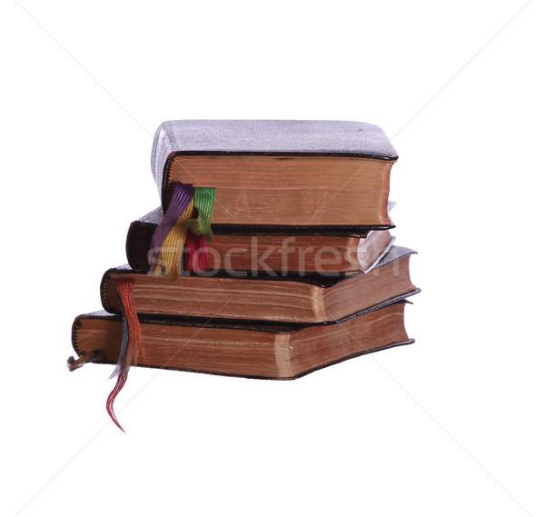 Quatro livros ciência preto Foto stock © pterwort