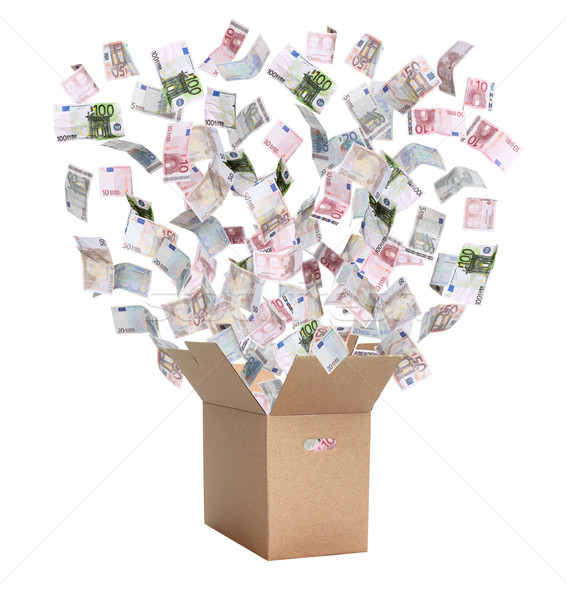 paper box with european bank notes Stock photo © pterwort