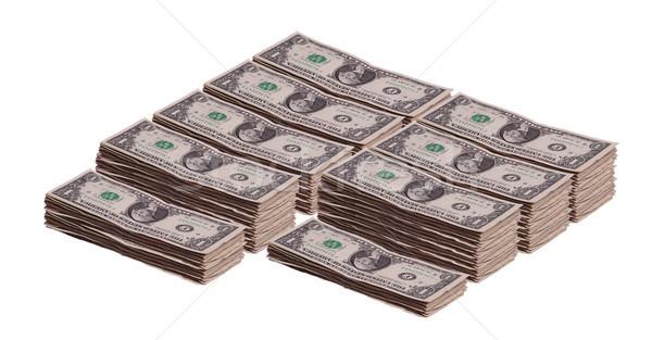 stacks of dollar banknotes Stock photo © pterwort