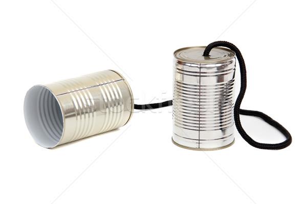 Konzerv telefon technológia kommunikáció beszéd információ Stock fotó © pterwort