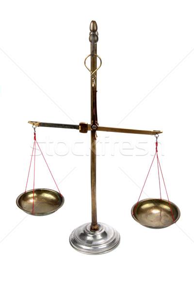 Velho farmacêutico balança branco ciência justiça Foto stock © pterwort
