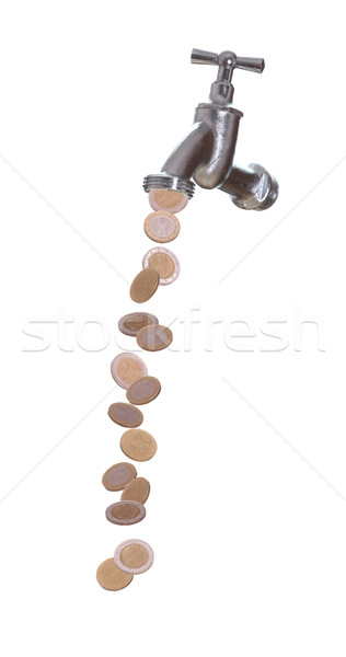 european currency drops out of faucet Stock photo © pterwort