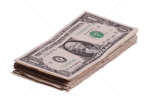 one dollar notes stacked Stock photo © pterwort