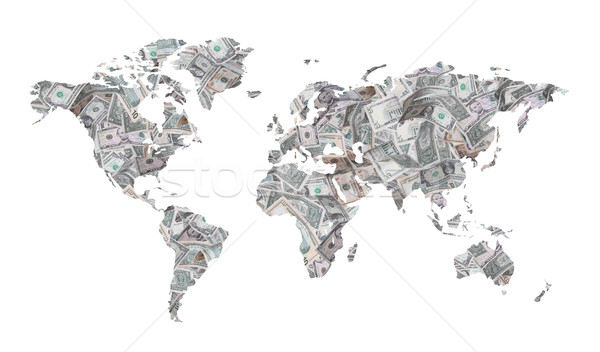 map of dollars Stock photo © pterwort