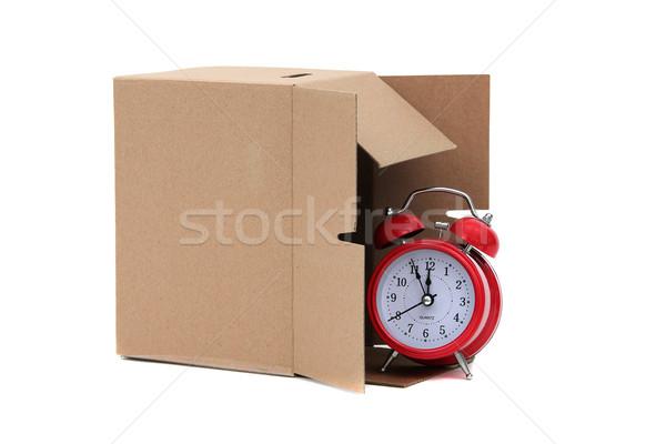 Tijd verwijdering klok home vak dienst Stockfoto © pterwort