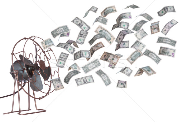 old ventilator and dollar banknotes Stock photo © pterwort