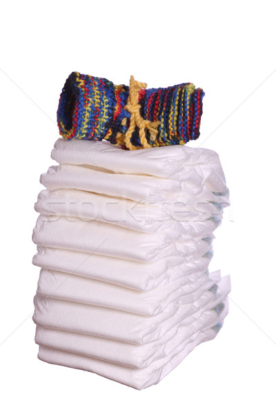 diaper with baby shoes Stock photo © pterwort