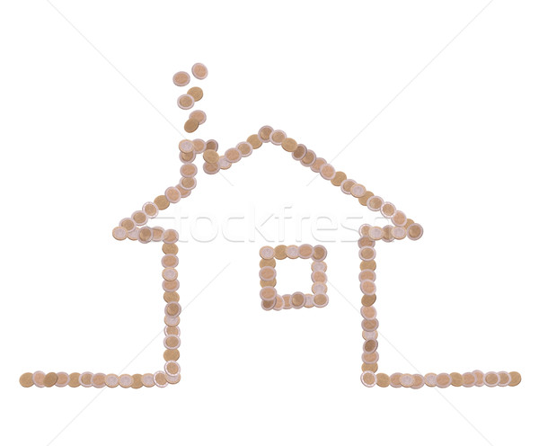 symbol of home made of coins Stock photo © pterwort