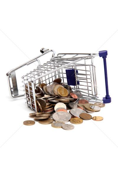 Monete metal banca shop futuro nota Foto d'archivio © pterwort