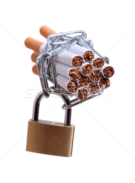 cigarettes with chain and padlock Stock photo © pterwort