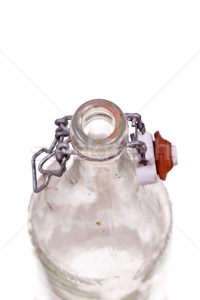 Stock photo: very old dusty bottle
